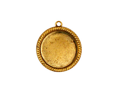 Stampt Antique Gold (plated) Herringbone Round Setting 15mm