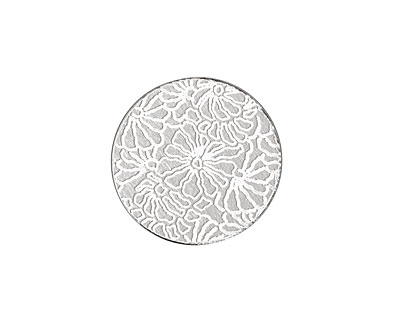 Lillypilly Silver Weathered Daisy Anodized Aluminum Disc 19mm, 22 gauge