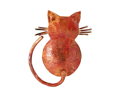 Patricia Healey Copper Cats Back Pendant 39x50mm