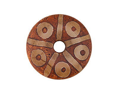 Tibetan (Dzi) Agate Rust Patterned Donut 50mm