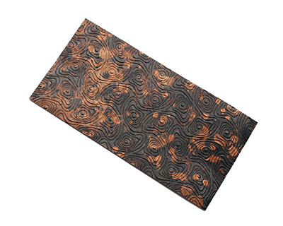 Lillypilly Mottled Psychedelic Embossed Patina Copper Sheet 3