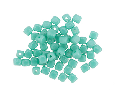Czech Glass Green Turquoise Cube 3mm