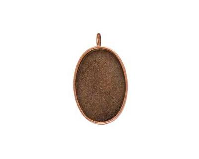 Nunn Design Antique Copper (plated) Large Oval Bezel Pendant 21x35mm