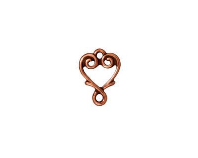 TierraCast Antique Copper (plated) Vine Heart Link 12x10mm