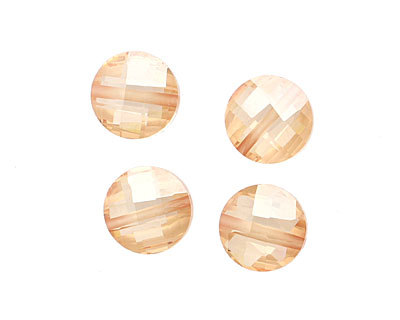 Champagne Faceted Coin 10mm