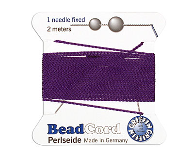 Amethyst Griffin Nylon Beading Cord Size 8, 2 meters