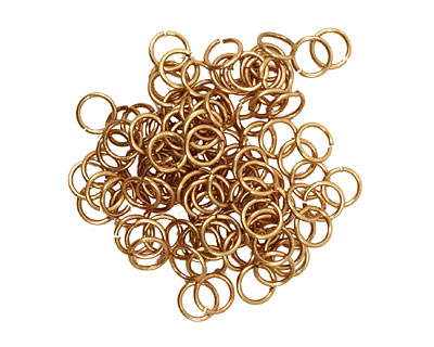 Artistic Wire Non-Tarnish Brass Chain Maille Jump Ring 4.76mm, 20 gauge