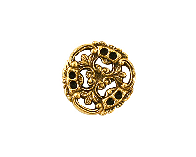 Stampt Antique Gold (plated) Pinwheel Connector 17x18mm