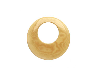 Tagua Nut Parchment Gypsy Hoop 25mm