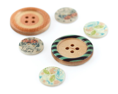 Serenade Wood and Shell Buttons