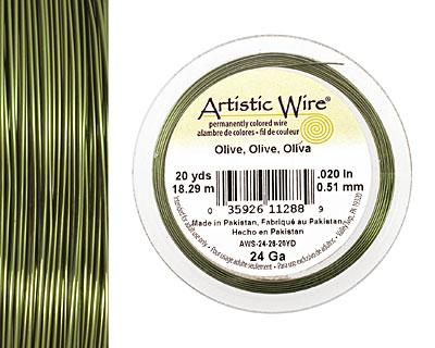 Artistic Wire Olive 24 gauge, 20 yards