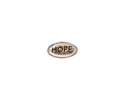 TierraCast Antique Rhodium (plated) Hope Word Bead 11x6mm