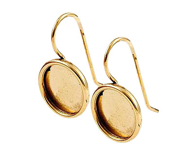 Nunn Design Antique Gold (plated) Small Circle Frame Earring 13mm