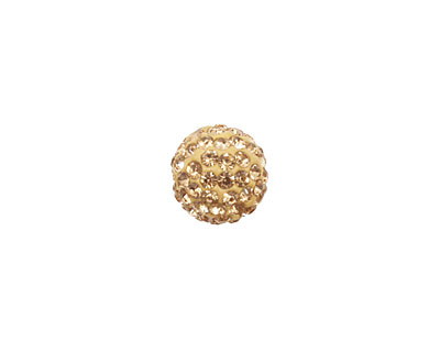 Light Colorado Topaz Pave Round 10mm (1.5mm hole)