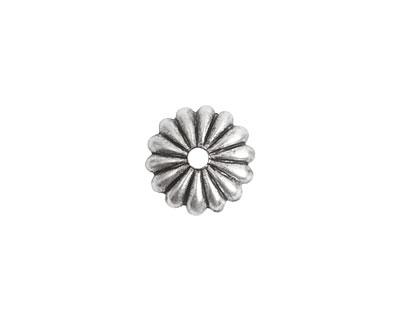 Nunn Design Antique Silver (plated) Petal Bead Cap 2x12mm