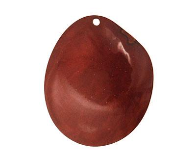 Tagua Nut Caramel Groovy Slice 25-35x30-42mm