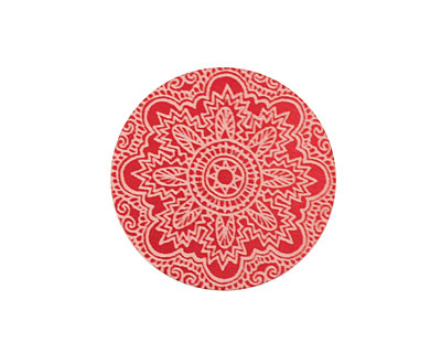 Lillypilly Red Lace Anodized Aluminum Disc 25mm, 24 gauge