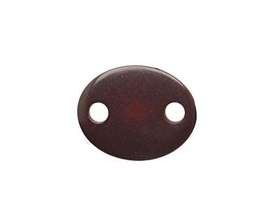 Tagua Nut Espresso Oval Link 24x19mm