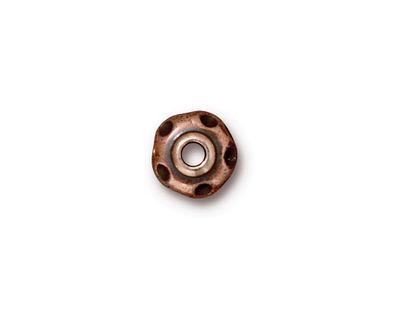 TierraCast Antique Copper (plated) Large Hole Divot Rondelle 6x10mm