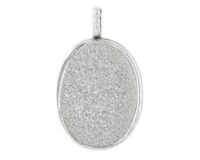 Nunn Design Sterling Silver (plated) Large Oval Bezel Pendant 21x35mm