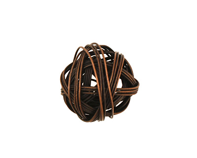 Antique Copper Wire Wrapped Round 16mm
