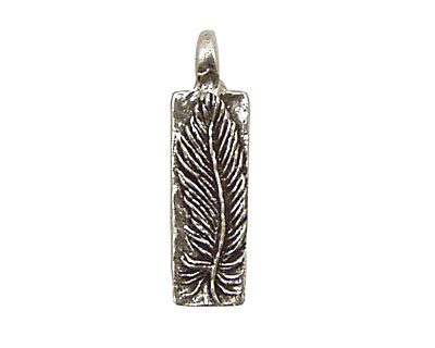 Green Girl Pewter Feather 8x28mm