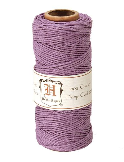 Lavender Hemp Twine 20 lb, 205 ft