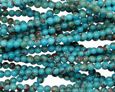 Chinese Turquoise Round 2-3mm