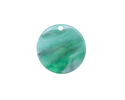 Zola Elements Emerald Marbled Acetate Coin Focal 20mm