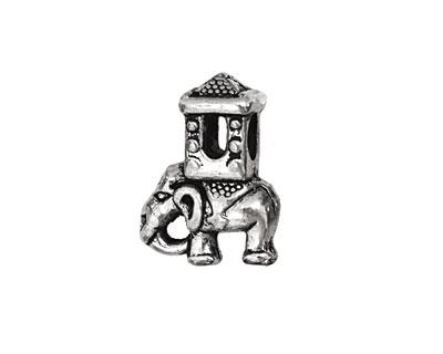 Pewter Traveling Elephant 15x20mm