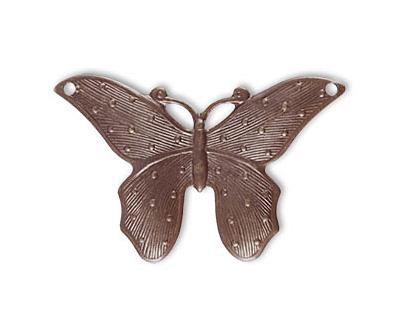 Vintaj Natural Brass Dotted Butterfly 41x28mm