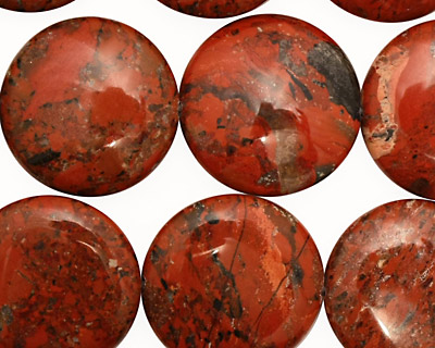Brecciated Jasper Puff Coin 20mm