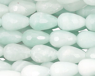 Amazonite Faceted Teardrop 12x8mm
