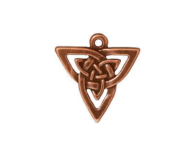 TierraCast Antique Copper (plated) Open Triangle Pendant 20x21mm