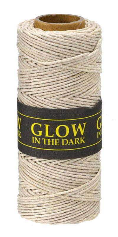 Natural Glow in the Dark Hemp Twine 20 lb, 205 ft