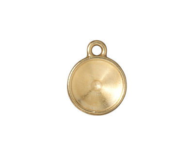 TierraCast Gold (plated) 12mm Round Drop Frame 14x18mm