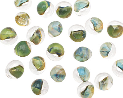Unicorne Beads Green Ocean Mini Teardrop 5x7mm