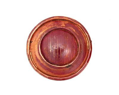 Patricia Healey Copper Ridged Button 25mm