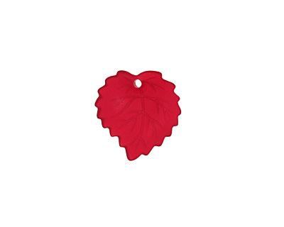 Matte Dark Ruby Lucite Ivy Leaf 16mm