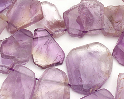 Ametrine Flat Freeform Drop 15-22x17-28mm