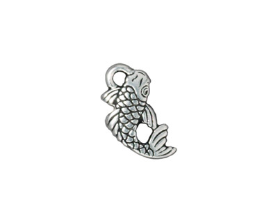TierraCast Antique Silver (plated) Koi Charm 17x9mm