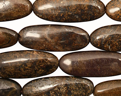 Bronzite Flat Oval 28x10-11mm