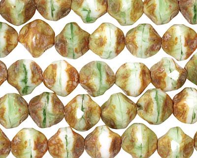 Czech Glass Key Lime Picasso Chandelier Cut 8mm
