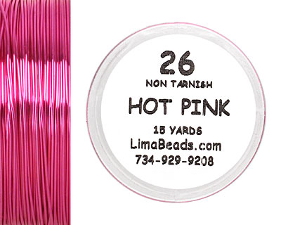 Parawire Hot Pink 26 Gauge, 15 Yards