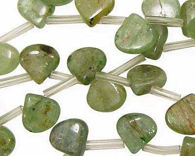 Green Kyanite Flat Teardrop 10mm