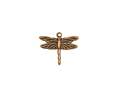 Stampt Antique Copper (plated) Dragonfly Charm 15x13mm