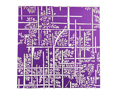 Lillypilly Purple Bamboo Anodized Aluminum Sheet 3