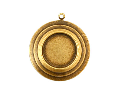 Stampt Antique Brass Stacked Circles Round Setting 13mm