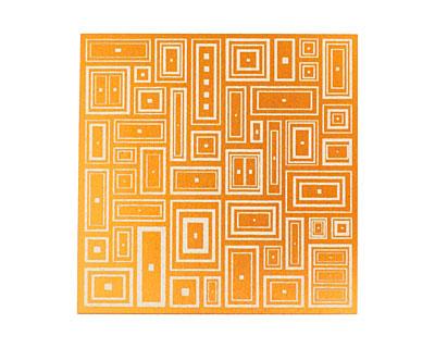Lillypilly Orange Deco Rectangle Anodized Aluminum Sheet 3