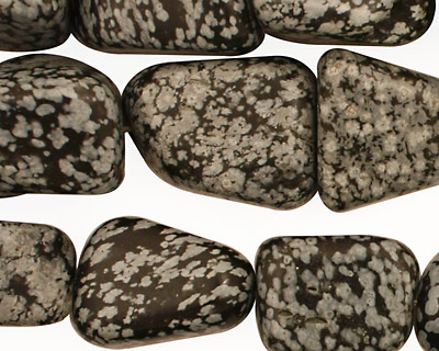 Snowflake Obsidian Tumbled Nugget 16-25x12-20mm